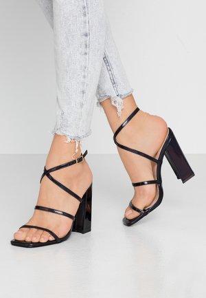 NISSEY - Sandály na vysokém podpatku - black holographic