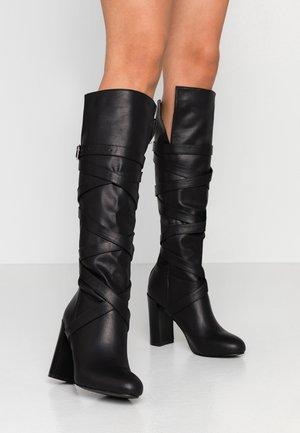 GRACIA - Kozačky na vysokém podpatku - black