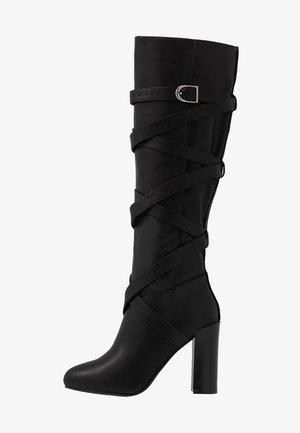 GRACIA - Laarzen met hoge hak - black