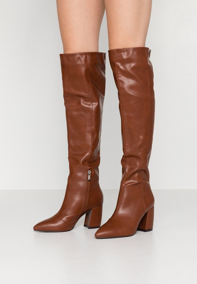 TERRY - Over-the-knee boots - tan