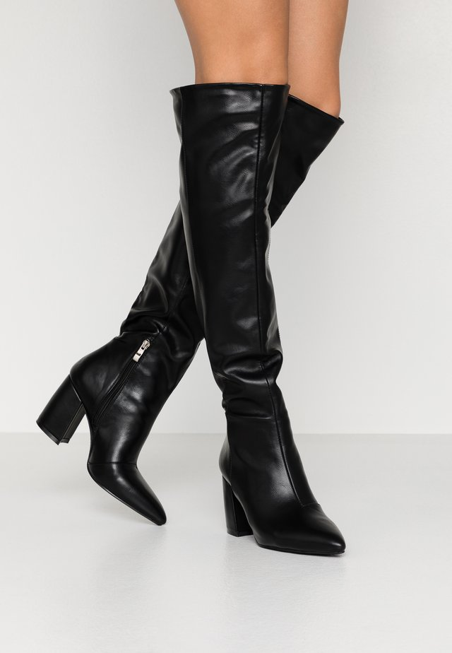 TERRY - Over-the-knee boots - black