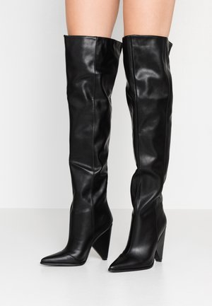 PLEXI - High heeled boots - black