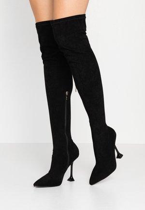 LUCITA - Kozačky na vysokém podpatku - black