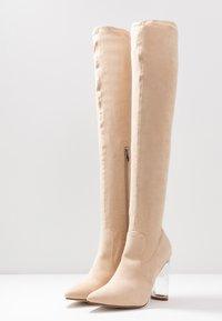 RAID - DEIDRE - High heeled boots - nude - 4