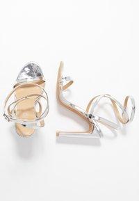 RAID - OPRAH - Sandaler med høye hæler - silver metallic - 3