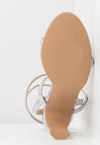 RAID - OPRAH - Sandaler med høye hæler - silver metallic - 6