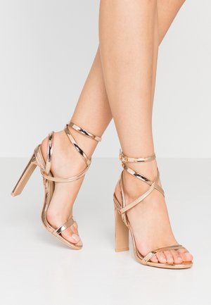 OPRAH - High heeled sandals - rose gold metallic