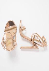 RAID - OPRAH - Sandály na vysokém podpatku - rose gold metallic - 3