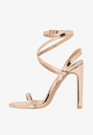 OPRAH - Sandály na vysokém podpatku - rose gold metallic