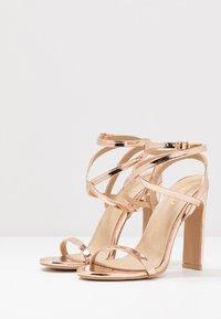 RAID - OPRAH - Sandály na vysokém podpatku - rose gold metallic - 4