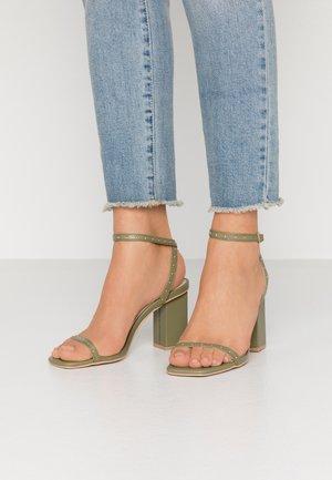ANIELA - High heeled sandals - sage green