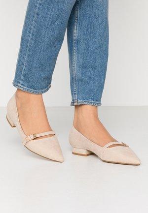 ELOISA - Ankle strap ballet pumps - nude