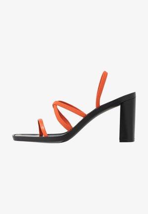 DONNA - High heeled sandals - rust