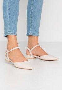 RAID - MYLAH - Ankle strap ballet pumps - nude - 0