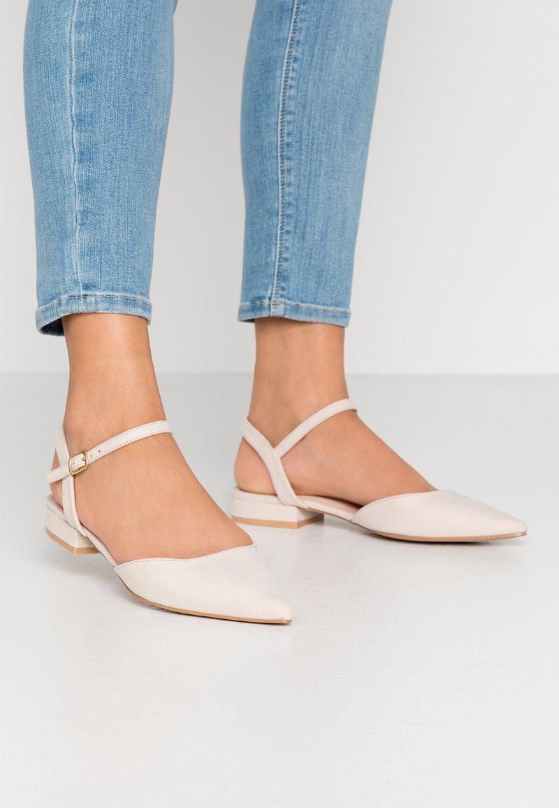 RAID - MYLAH - Ankle strap ballet pumps - nude