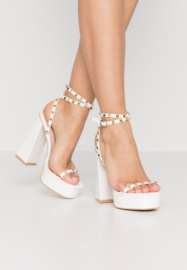ODINAH - High heeled sandals - white