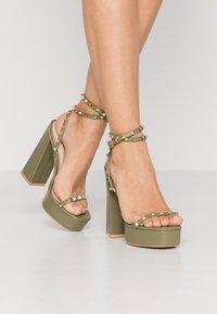 RAID - ODINAH - Sandaler med høye hæler - sage green - 0
