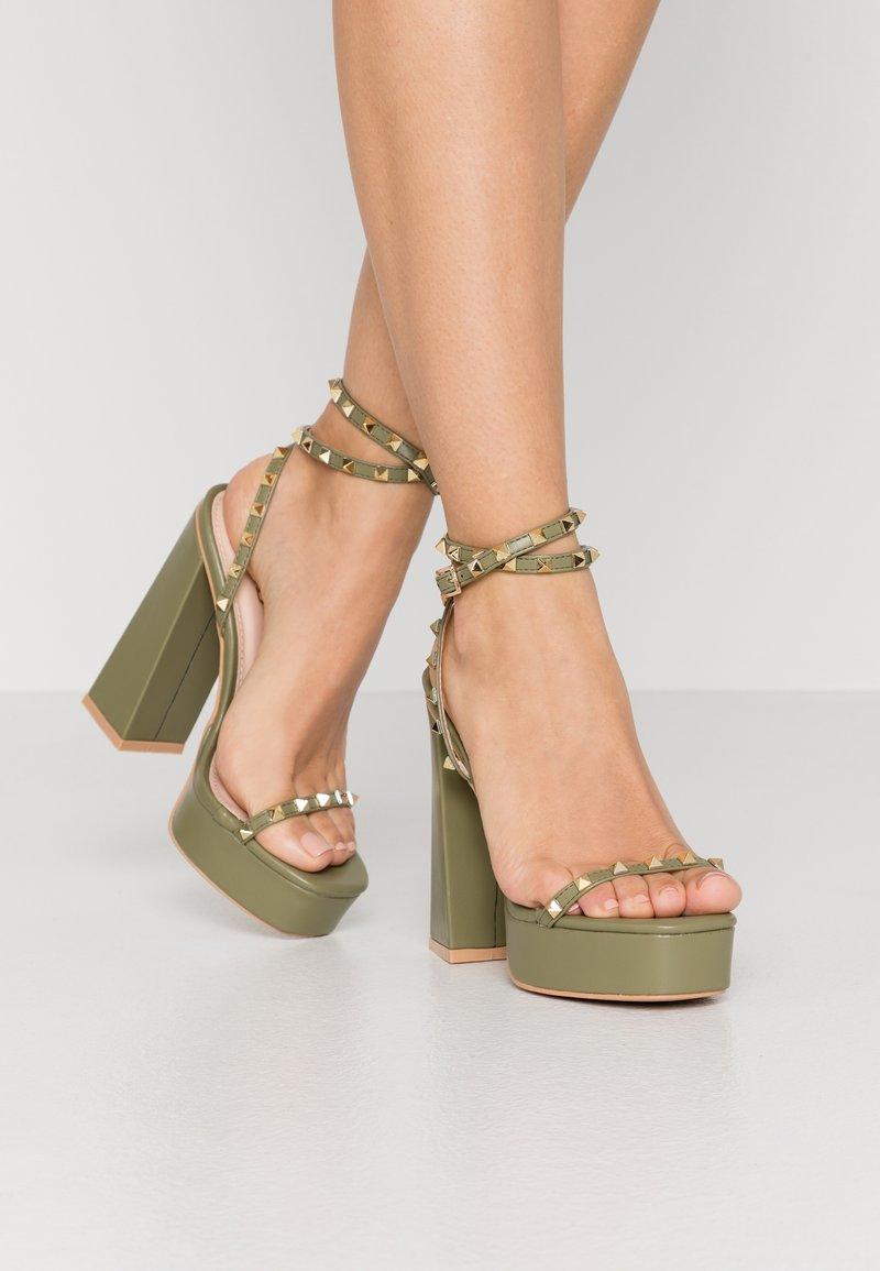RAID - ODINAH - Sandaler med høye hæler - sage green