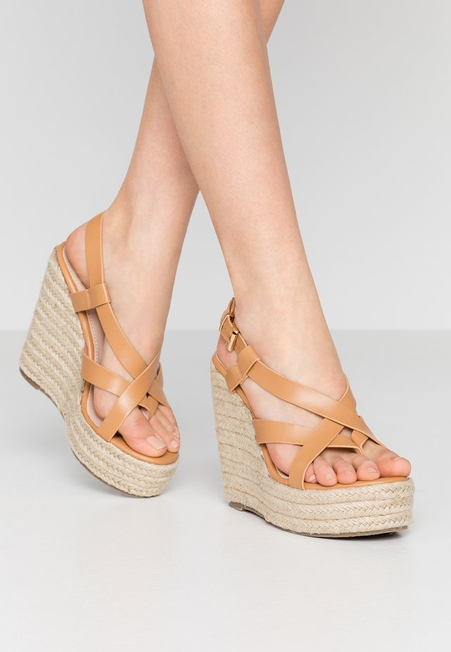 ROCIO - High heeled sandals - dark coral