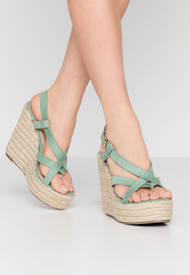 ROCIO - High heeled sandals - mint green