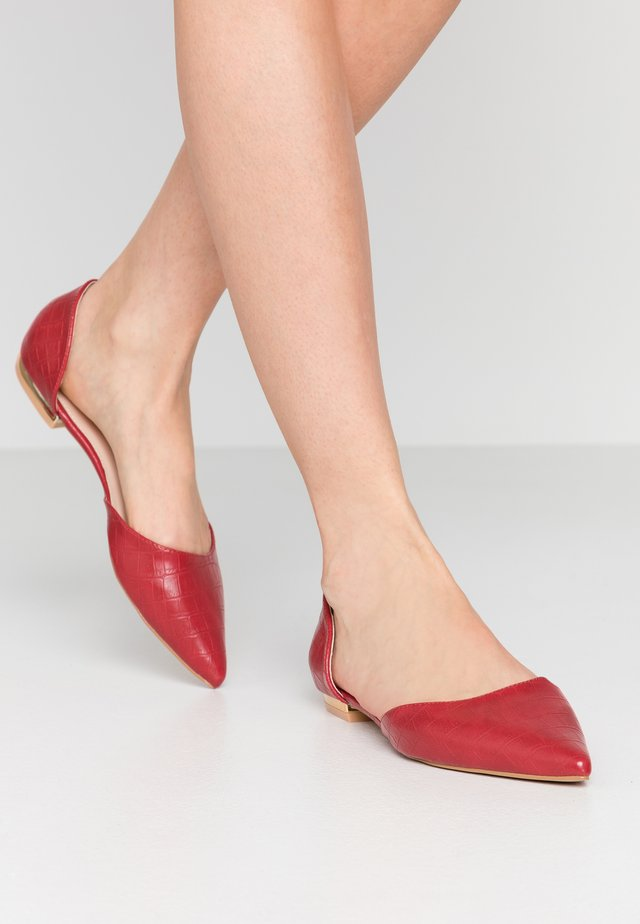 CAROLINE - Ballerinaskor - red