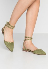 RAID - LAURENA - Ankle strap ballet pumps - sage green - 0