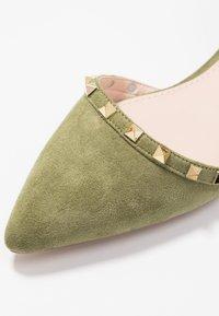 RAID - LAURENA - Ankle strap ballet pumps - sage green - 2