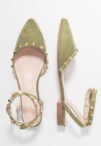 RAID - LAURENA - Ankle strap ballet pumps - sage green - 3