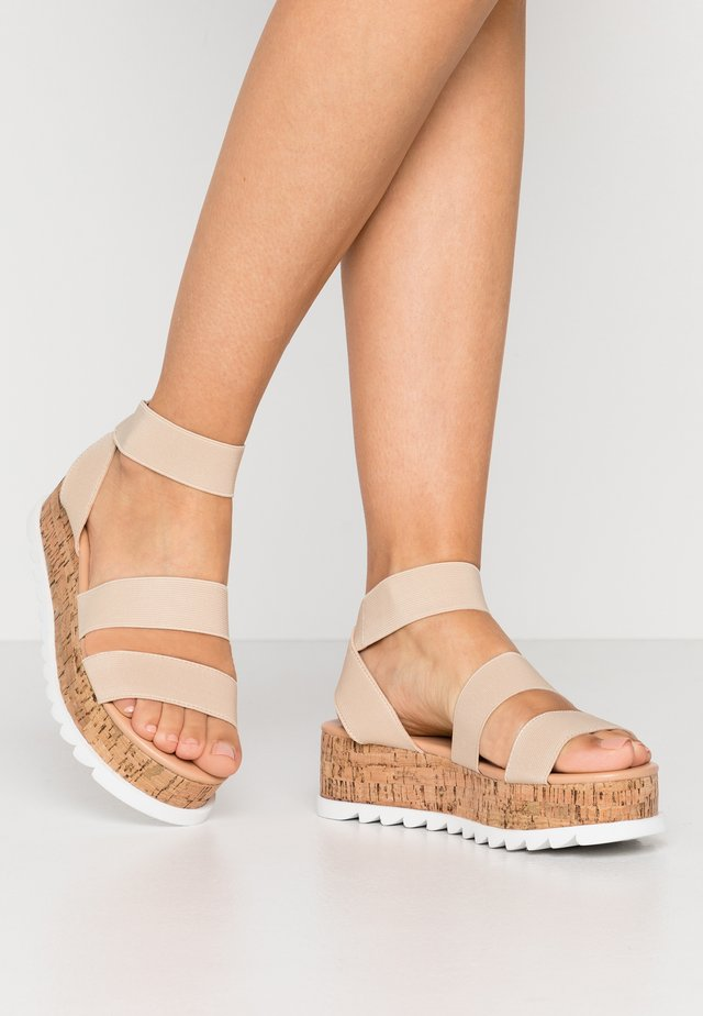 RICO - Platform sandals - nude