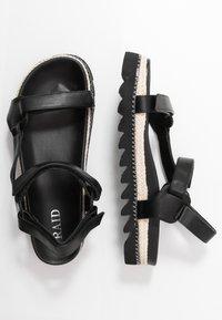 RAID - SONNIE - Sandaalit nilkkaremmillä - black - 3
