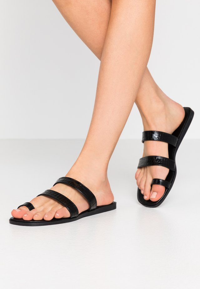 MILLIE - T-bar sandals - black