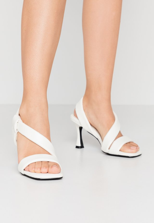 ZELIE - High heeled sandals - white