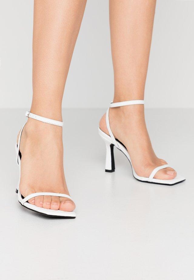 GLENDORA - High heeled sandals - white