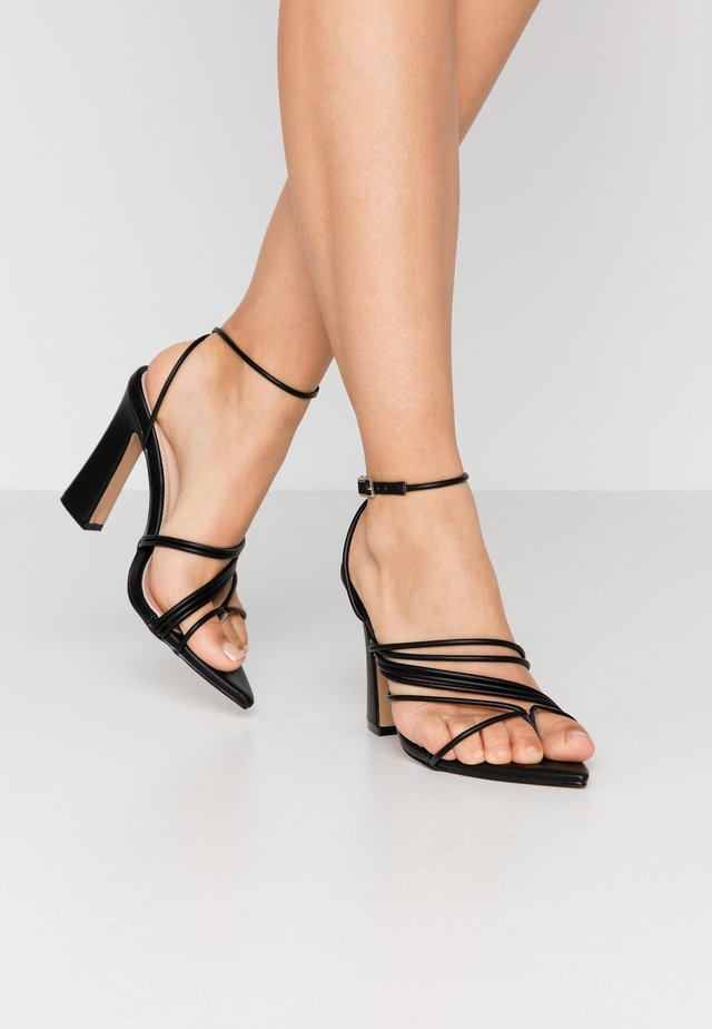 GLADDIN - High heeled sandals - black