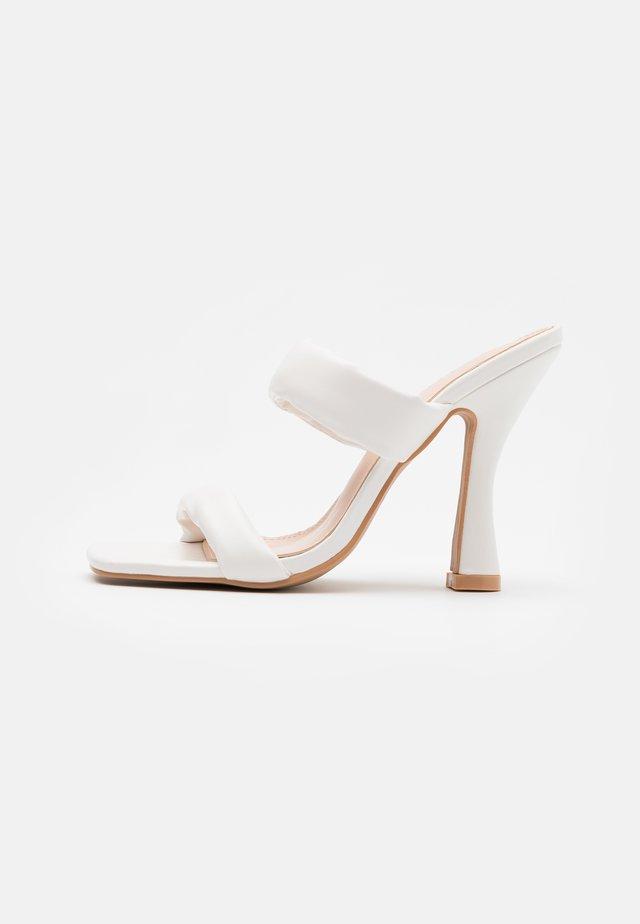 AMELINA - Heeled mules - white