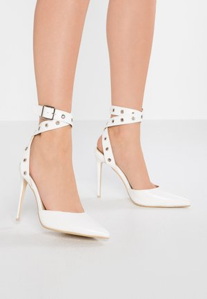 TAYLAH - High heeled sandals - white