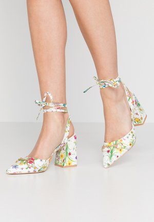 SAMIRA - High heeled sandals - white