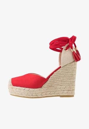 DORIAN - High heeled sandals - red