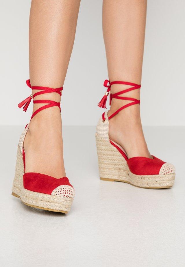 DORIAN - High heeled sandals - red