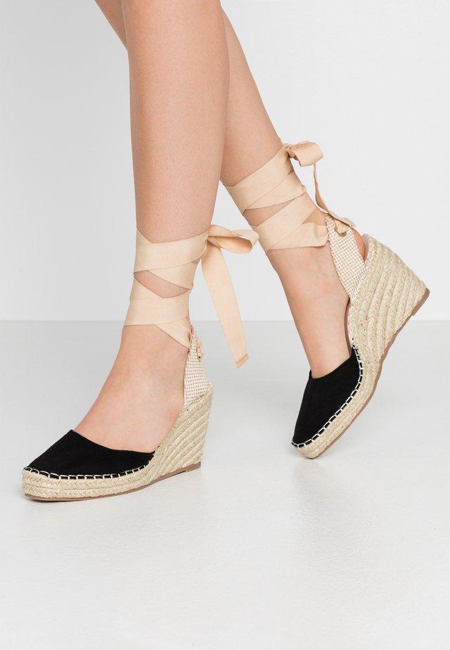 EADIE - Sandalen met hoge hak - black
