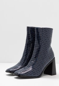 RAID - KIAYA - High heeled ankle boots - navy - 4