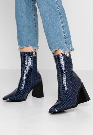 KIAYA - High heeled ankle boots - navy
