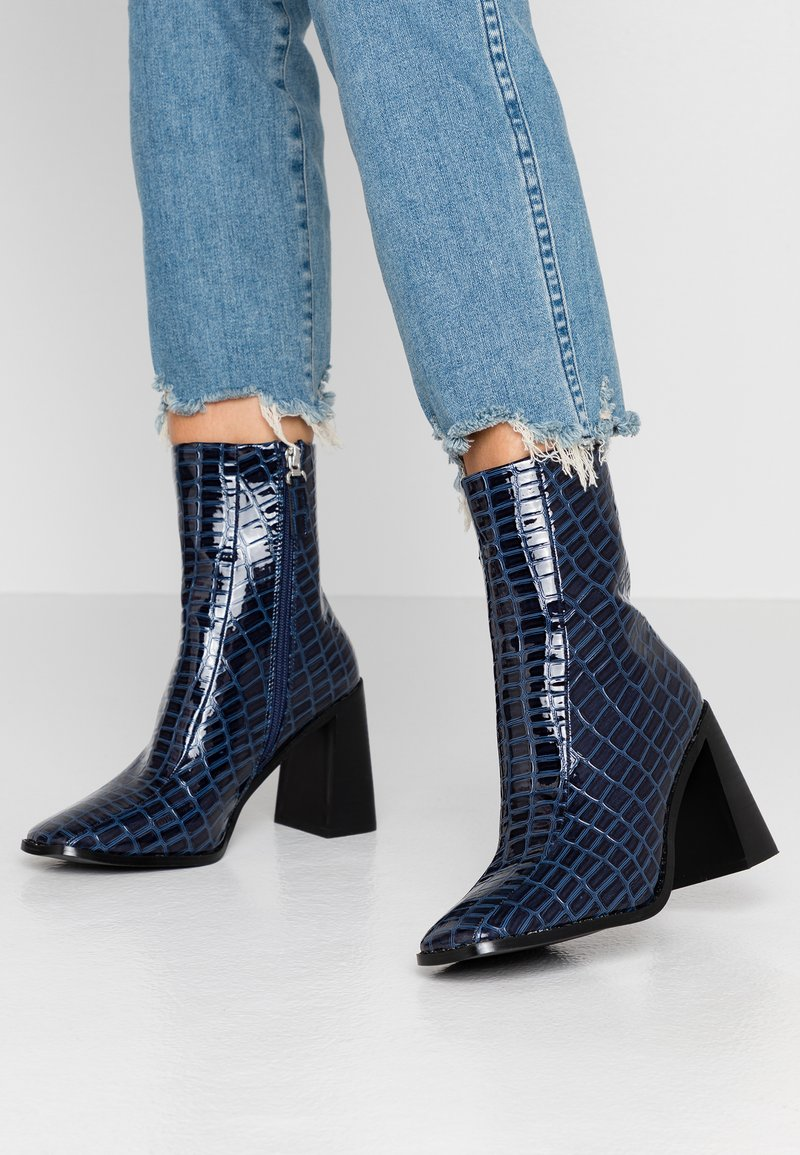RAID - KIAYA - High heeled ankle boots - navy