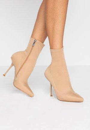 KADENCE - High heeled ankle boots - blush