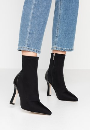 OLINIA - High heeled ankle boots - black