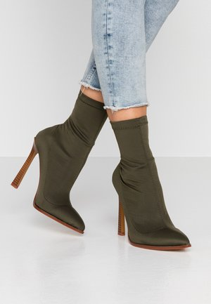 CATRIONA - High heeled ankle boots - khaki