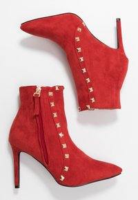 RAID - BRYONY - High heeled ankle boots - red - 3
