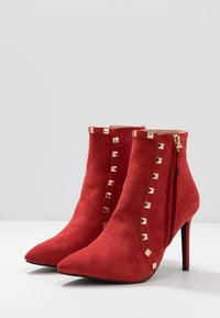 RAID - BRYONY - High heeled ankle boots - red - 4