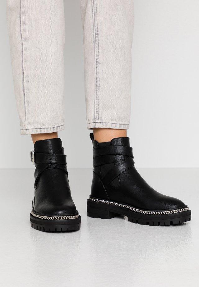 DANIELA - Cowboy/biker ankle boot - black