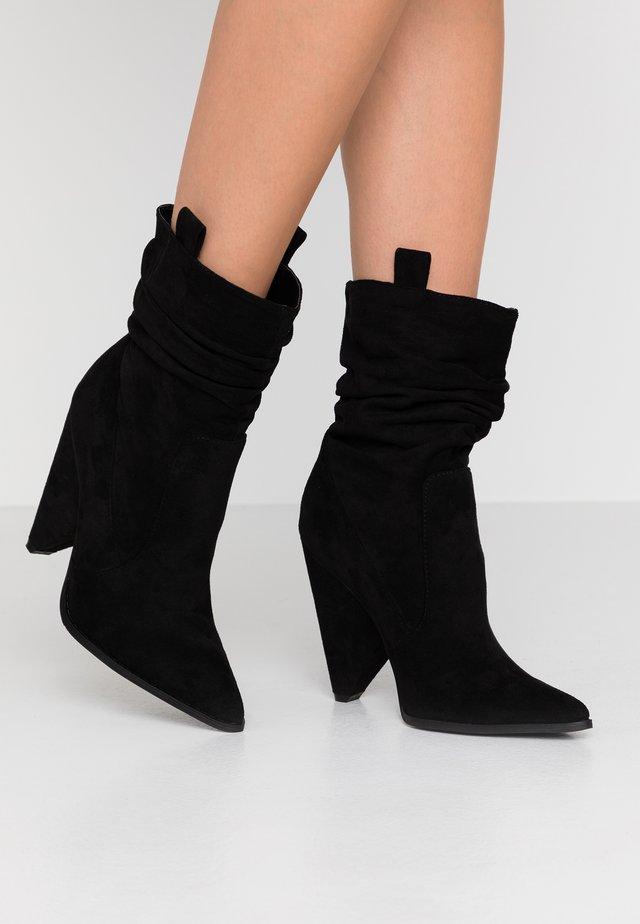 TAFTON - High heeled ankle boots - black